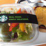 Starbucks Egg Benedict Pie with Garden Salad